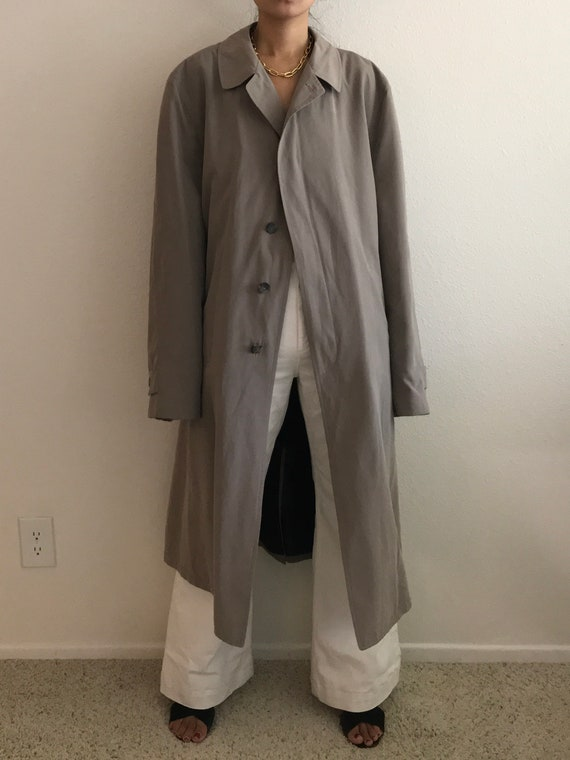 Vintage Trench Coat Classic Taupe/Beige Single Bre