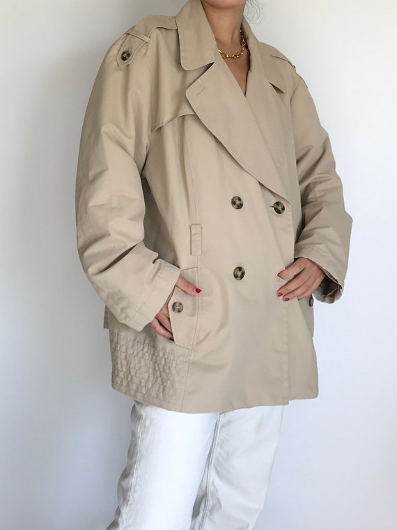 Trench Jacket vintage Beige Taupe Double Breasted