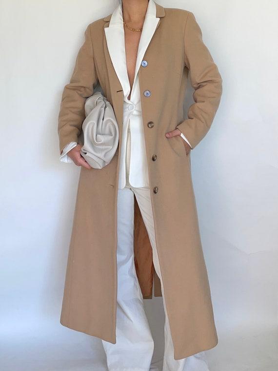Vintage Ann Taylor Wool Camel Coat Women's Single