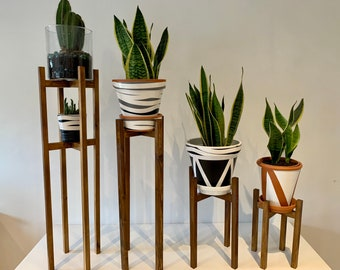 Plant Pot Stand  Hand made in Uk  in various sizes of your choice of width and colors stained to perfection