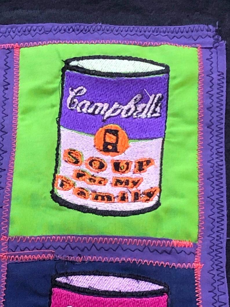 Soup For My Family Pop Art Design T-shirt Black