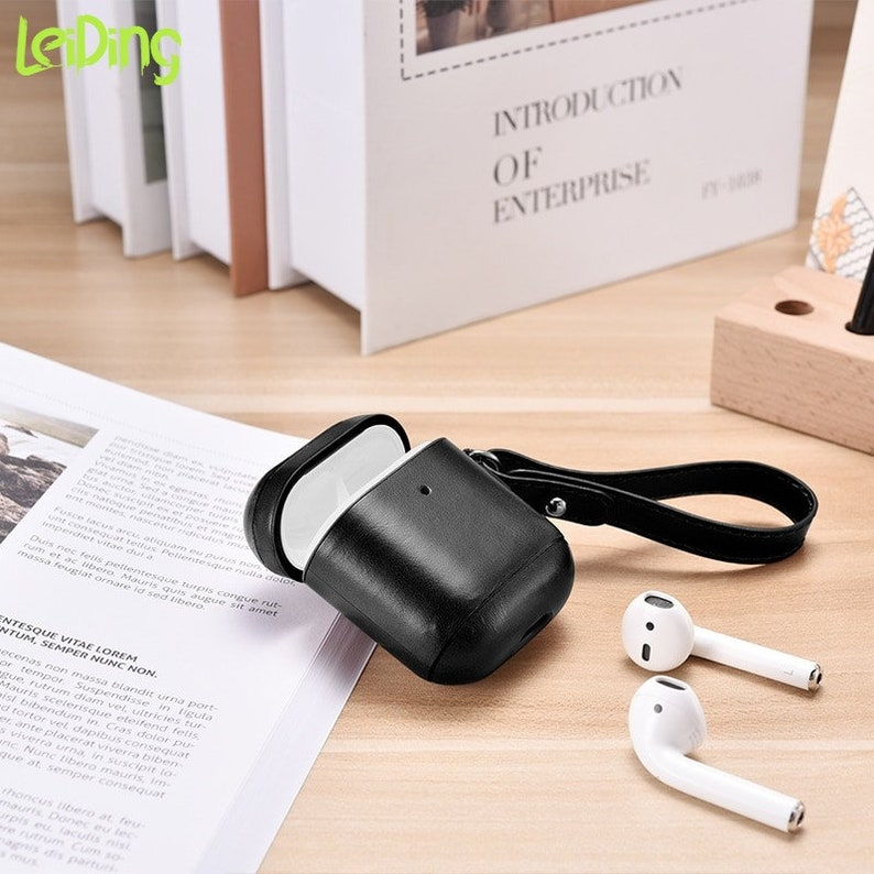 Genuine Cow Leather Case Cover For AirPods Pro Luxury Retro Leather Protective Case for AirPods 321 Bluetooth Earphone Cases