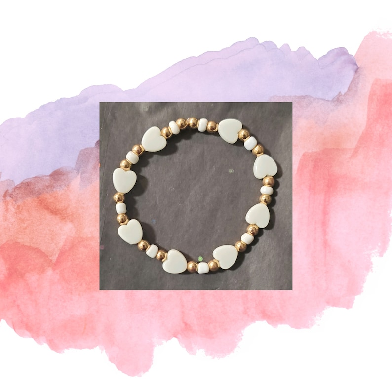 Pastel Heart Bracelets