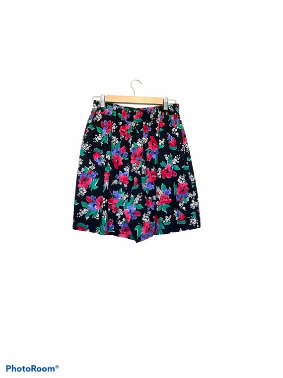 Vintage 90s Multicolor Floral High Waisted Elastic