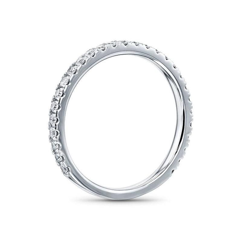 1.80 Ctw Round Cut Halo Engagement Band Wedding Ring Promise Ring Simulated Diamond Halo Ring 925 Sterling Silver-Solid 14K White Gold