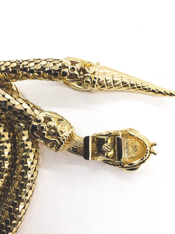 Vintage Jewelry- Whiting & Davis Gold Mesh Coil S… - image 4