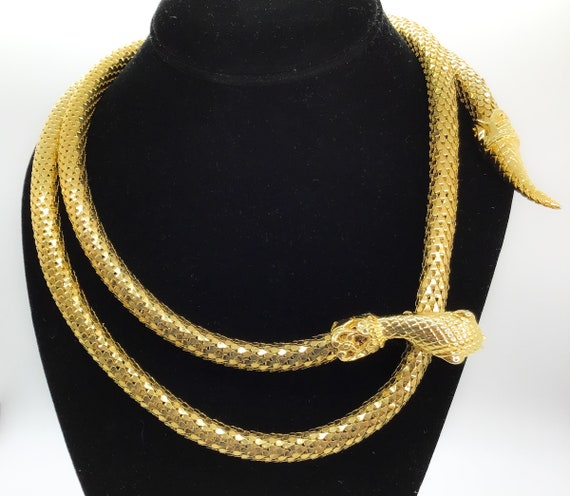 Vintage Jewelry- Whiting & Davis Gold Mesh Coil S… - image 5