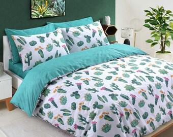 Cactus Succulent Duvet Cover Bedding