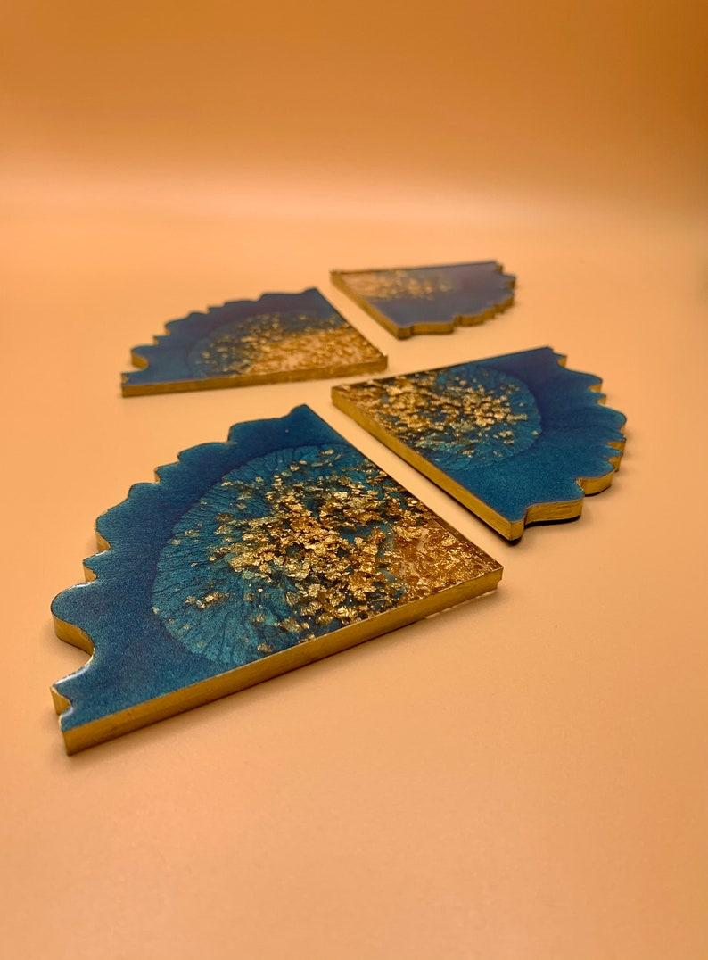 4 Piece Geode Coaster Set