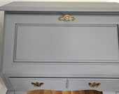 SOLD A similar item is coming soon Gorgeous Vintage dropfront, piano hinge secretary desk entry way desk