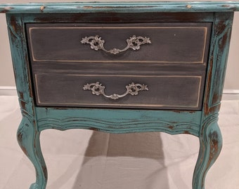 Adorable refurbished Vintage French provincial nightstand / end table