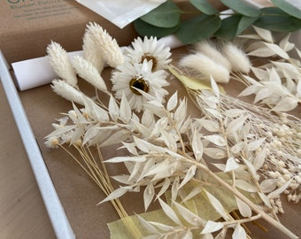 DIY Boxes JGA 5 Persons Head Wreath Driedflowers Eucalyptus Veil Weed All-Round Carefree Package