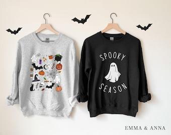 Halloween Crewneck Sweatshirt, Halloween Sweater, Spooky Season Shirt, Halloween Sweatshirt for Women, Halloween Pullover, Fall Sweatshirt