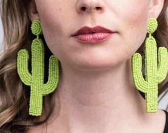 printed earrings gift for friends 57 Dangle earrings botanical design hoop earrings cactus earrings paper earrings