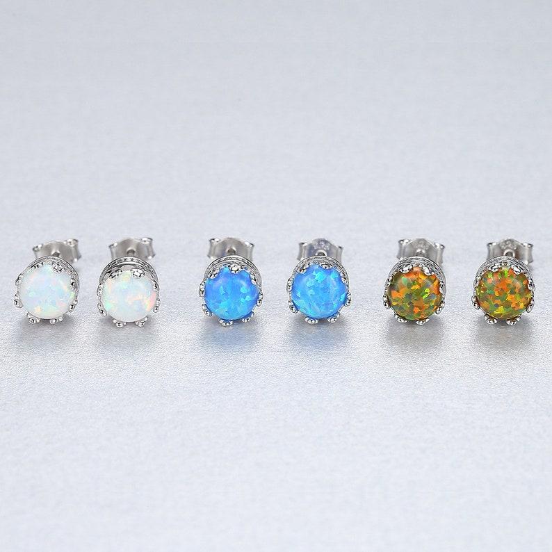 Opal Earrings Opal Stud Earrings. Blue Opal Earrings Stud Earrings Blue Opal Stud Earrings White Opal Stud Earrings Opal Stud Earrings