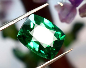 Tsavorite Garnet Natural 10Cts Cushion Radiant Ring Size Best Offer Cut Faceted Green Garnet Stone Certified Garnet Loose Garnet Gemstone
