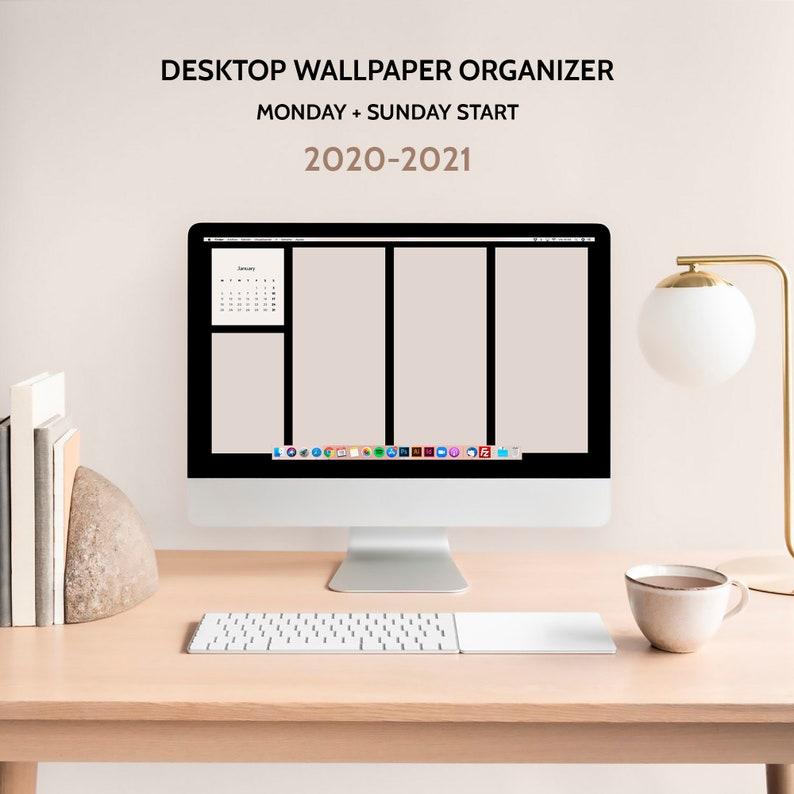 Desktop wallpaper minimalist organizer 2020-2021 Monthly ...