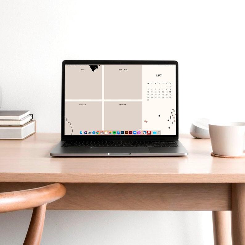 2021 Desktop Wallpaper Organizers Minimalist Computer | Etsy