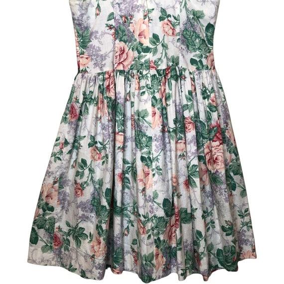 Jessica McClintock Gunne Sax Girls floral dress 8… - image 5