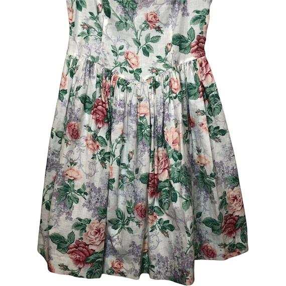 Jessica McClintock Gunne Sax Girls floral dress 8… - image 3