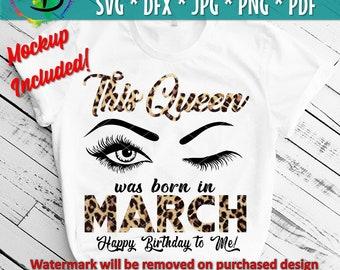 March Birthday Svg Etsy