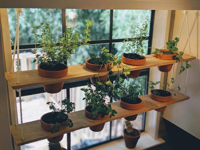 Hanging Plant Shelves  Indoor Planters image 1