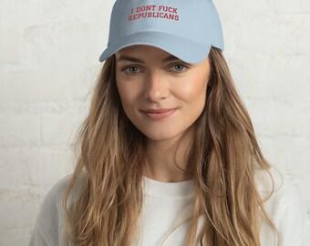 I dont fuck republicans baseball hat