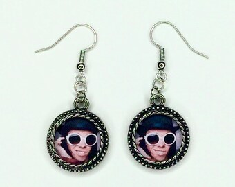 Willy wonka Tik Tok meme funny dangle earrings  Johnny deep Charlie and the chocolate