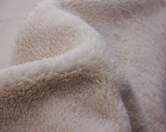 Organic cotton plush fabric, teddy plush, Oeko-Tex, teddy fleace, teddy fur cotton