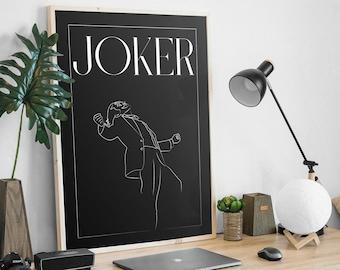JOKER   poster  Minimalist poster signed - Film, cinema, joker
