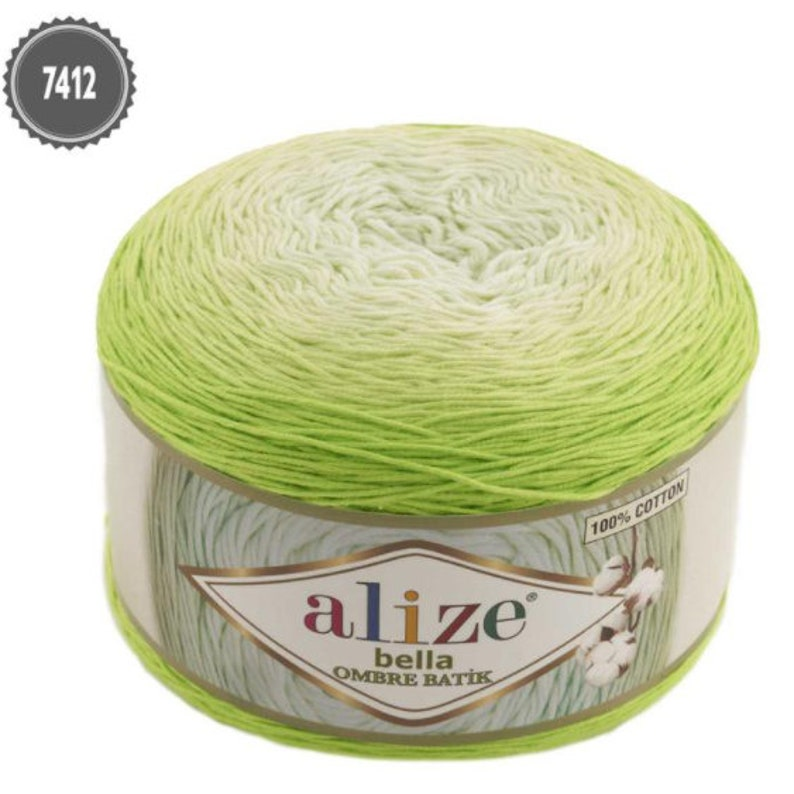 cotton Alize Bella ombre batik pure cotton yarn ombre yarn yarn ombre yarn gradient 250grams,900 meters 100/% Cotton yarn baby yarn