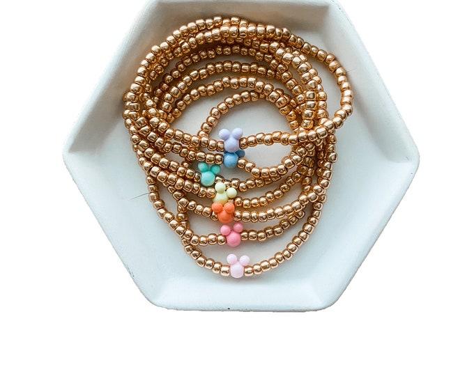 Seed Bead Mickey Bracelet