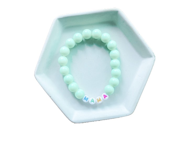 Solid Color Bracelet with Name