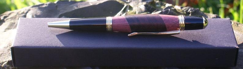 Handmade Sierra pen made using Purple heart and rosewood