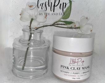 High Quality Pink Clay Masks | ANTI DUST MASK | Elastic Face Mask | Handmade Washable Face Mask