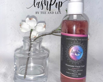 Facial Toner | Pure Rose Water Spray Organic Face and Skincare | Rose Hydrosol Toner for Face
