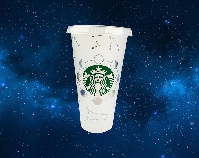 Connstellation Inspired Holographic Vinyl Starbucks Venti Cold Beverage Cup