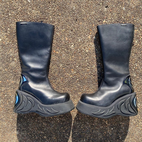 Vintages 90s Destroy cyber punk platform boots