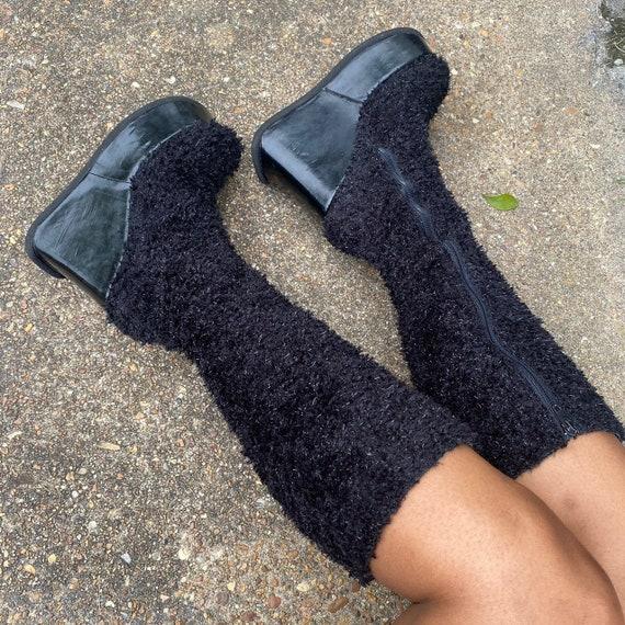 Vintage 90s Luichiny platform wedge boots