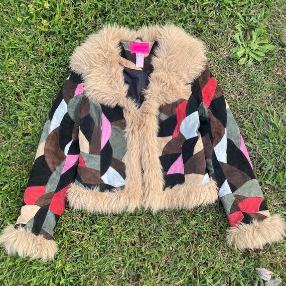 Vintages 2000s patchwork pennylane jacket