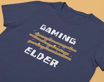 Gaming Elder Funny Shirt Gift for Nerds Gamers Mom Dad Short-Sleeve Unisex T-Shirt Made in the USA