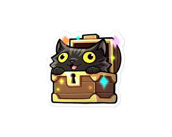 Black Cat in Treasure Chest, colaLoot Sticker