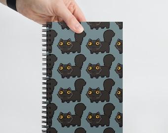 Jack Army Cute Black Cat Dot Grid Notebook