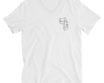 My Favorite White T with Tracey and Jack Visiting Pride Rock Unisex V-neck Shirt