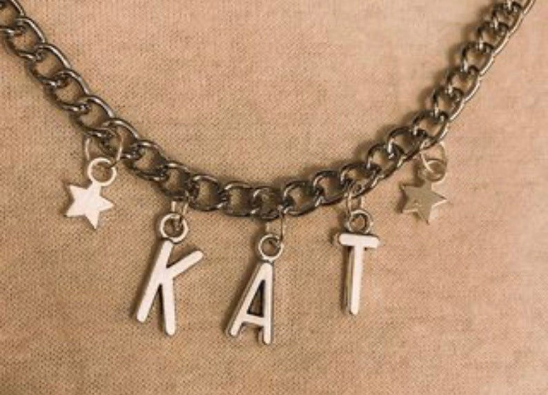 Name link necklace