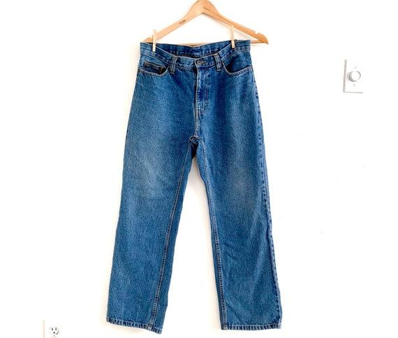 Vintage 90s high rise straight leg Jeans/ high wai