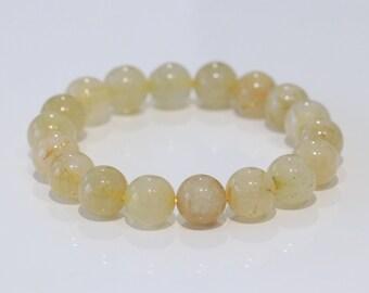 Natural golden rutilated quartz bracelet, Rutile quartz, economic fortune, protection from negative energy  (free freight)