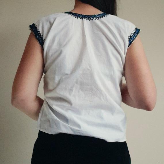 40s vintage cottagecore blouse Hungarian Romanian… - image 4
