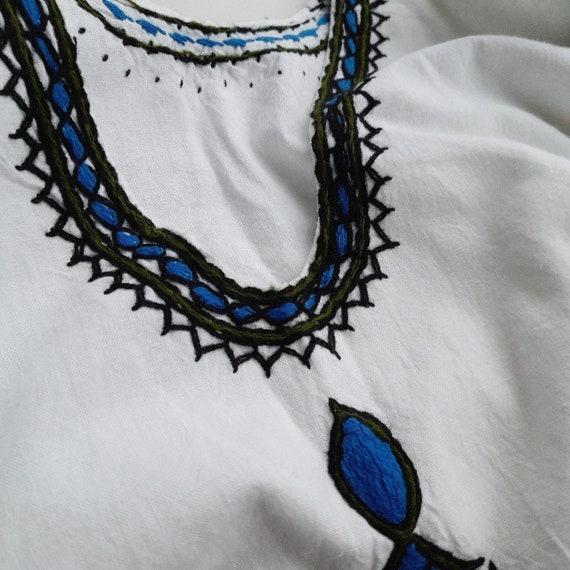 40s vintage cottagecore blouse Hungarian Romanian… - image 3