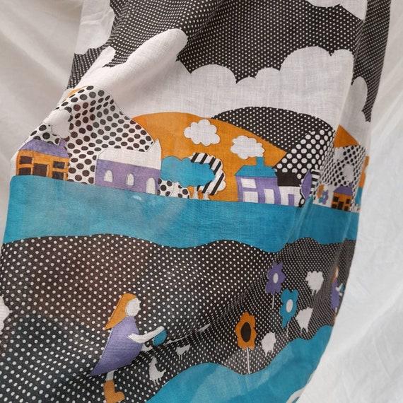Cottagecore 70s  vintage prairie maxi skirt, fair… - image 8